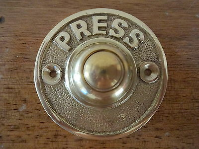 """victorian Style Brass Bell Push"" Door Doorbell Knobs Knocker Handles Plates"