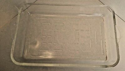 "McKee Glasbake Rectangle glass dish cake bar pan 8""x12"" 263 USA 1940s"