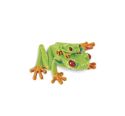 RED EYED TREE FROG With BABY 100120 ~ NEW for 2017  FREE SHIP/USA w/ $25+ SAFARI