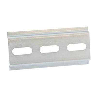 NTE Electronics R95-128 DIN RAIL 3 INCHES PRE-PUNCHED STEEL 7.5MM HIGH