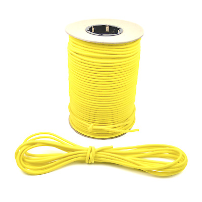 """1/4"""" Yellow Bungee Cord Marine Grade Heavy Duty Shock Rope Tie Down Stretch Band"""