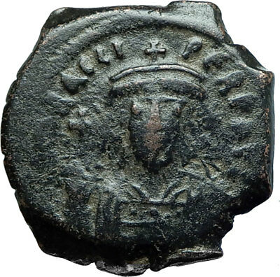 HERACLIUS 610AD Constantinople Follis Authentic Ancient Byzantine Coin i66080
