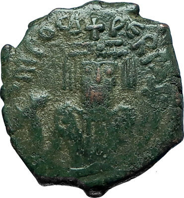 PHOCAS Genuine 602AD Cyzicus Half Follis Authentic Ancient Byzantine Coin i66086