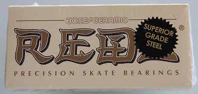 BONES CERAMICS REDS SKATEBOARD BEARINGS set of 8 TOP QUALITY SPEED! for complete