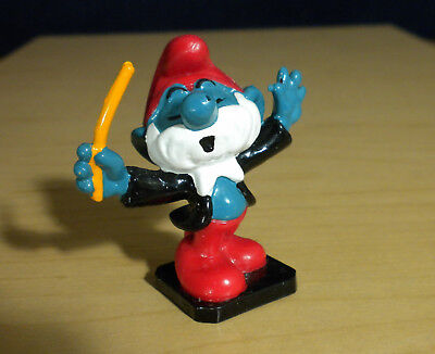 Smurfs Papa Smurf Band Leader Orchestra Conductor Vintage Music Toy Figure 20092