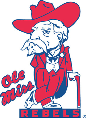 """Mississippi """"Ole Miss Rebels"""" NCAA Color Die-Cut Decal / Sticker *Free Shipping"""