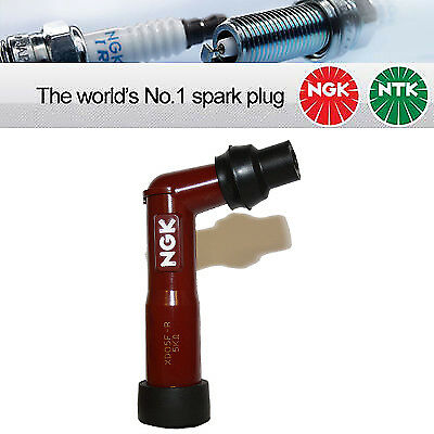 1x NGK Spark Plug Cap  XD05F-R - 10-12mm Screw Terminal Red