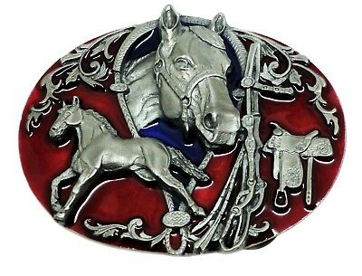 Horse & Bridle Belt Buckle American Western Themed Animal Authentic Siskiyou