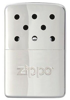 Zippo 6 Hour Hand Warmer With Filler Cup & Pouch, Silver, 40321, New In Box