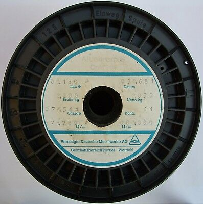 0.15mm, 35 AWG, 75.78 Ω/m, Aluchrom S Resistance Wire 5-100 m