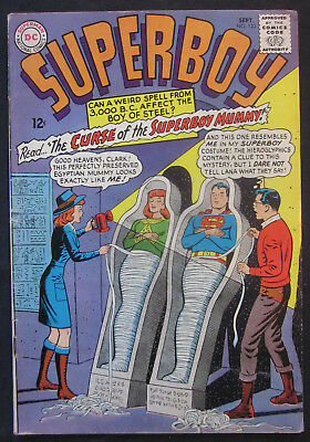 SUPERBOY #123 1965 1st Series DC Comics FN 6.0 Silver Age KRYPTO Mummy