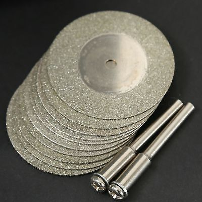 10pcs Diamond Coated Cutting Wheels Saw Blades Disc For Dremel Power Rotary Tool