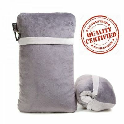 Compact Travel Pillow Made with Shredded Memory Foam and Super Soft Fleece...