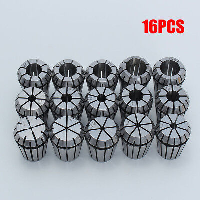 16Pcs Steel ER25 1-16MM Spring Collet Set For CNC Engraving Milling Lathe Tool