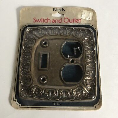 Vintage Kirsch Chateau Antique Brass Tone Metal Switch And Outlet Plate Cover