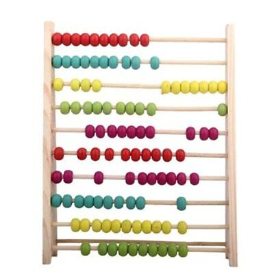 Wooden Abacus Educational Toy Colorful Beads Kids Toy UK Hot