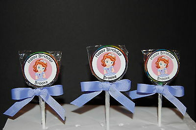 15 Sofia the First Personalized Birthday Lollipops