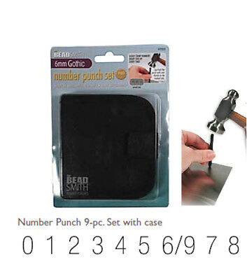 Number Stamps Metal Punch Tool Set - Stamp Metal, Clay, Wood, Leather & Plastic