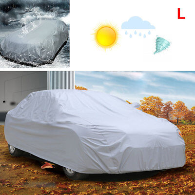 Car Cover UV Protection Waterproof Breathable Medium Size:L Universal Grey UK
