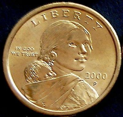 2000 P Sacagawea One Dollar US Liberty Coin Philadelphia Mint!
