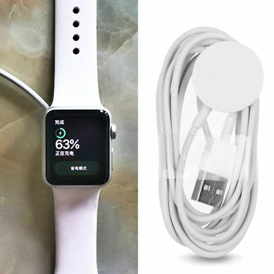 White Magnetic Charging Cable Wireless Charger Dock Pad For iWatch 2 3