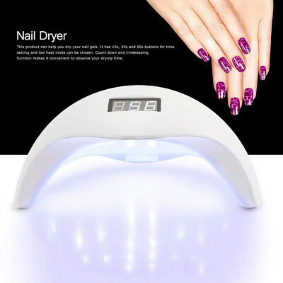 48W LED Nail Art Polish Gel Light UV Lamp Manicure Dryer Curing Timer Tool New