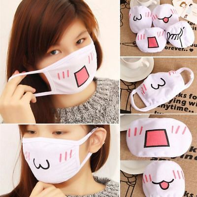Funny Girls 1PC Masks Mouth-muffle Anti-Dust Cute Expression Face Mask Kawaii