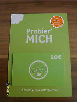 hello fresh probier 39 mich 30 gutschein coupon eur 1 00 picclick de. Black Bedroom Furniture Sets. Home Design Ideas