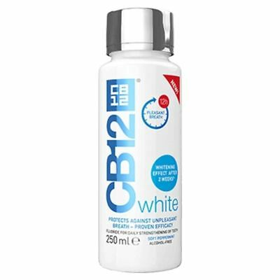 CB12 White 250ml Mouthwash Soft Peppermint 1 2 3 6 12 Packs