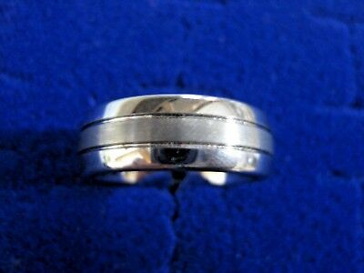 Men's Triton TC850 Tungsten Carbide Carbon Fiber Ring Sz 10  3C3