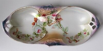 Beautiful Vintage Hand Painted I.p.f. Germany Relish Tray Signed S. Rocheval