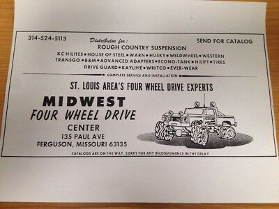 Midwest Four Wheel Drive Bigfoot Monster Truck Ad from 1977 Poster 8 x 11
