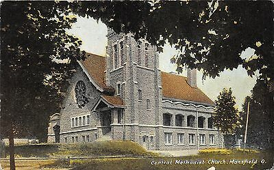 Mansfield Ohio~Central Methodist Church~Circle Stained Glass Window~1912 Pc