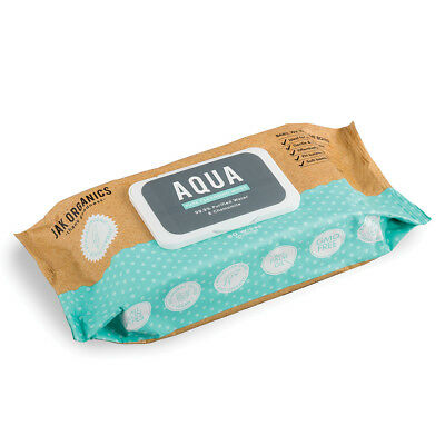 6 pack JAK ORGANICS  Aqua Pure Cleansing Wipes x 80 Wipes