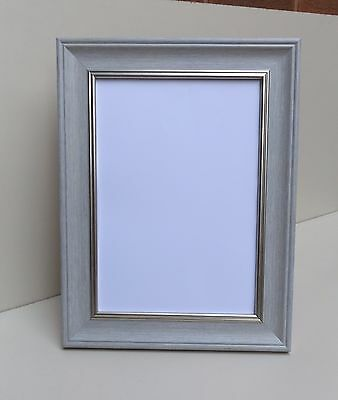 BRUSHED GREY Shabby Chic Photo/Picture Frame - All Sizes available EXTRA WIDE