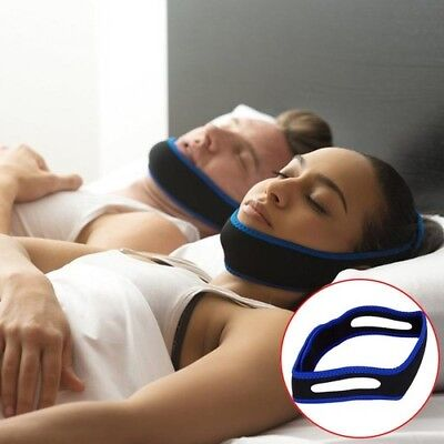 Snoring Belt Anti Snore Chin Strap Care Jaw Supporter Nasal Strips Sleeping Aid