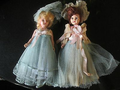 TWO antique/vintage dolls  Rubber band jointed from the 1940s