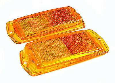 Datsun Front Side Marker Lamp Lens Set, 240Z 260Z 280Z 510, NEW!