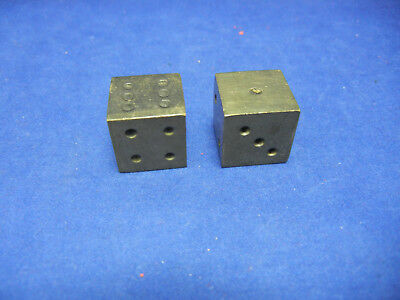 Pair of Solid Brass Dice 5/8""