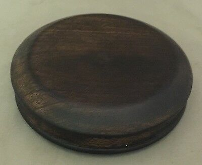 "4"" Dark Brown Chinese Oriental Wooden Lid Cap Cover for Ginger Jar & Vases"