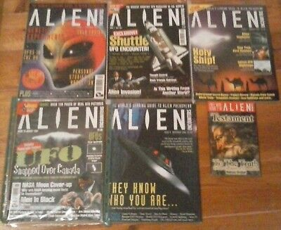 Alien Encounters x5 mags 3,5,7,11,15 1997 ufo paranormal thought control roswell