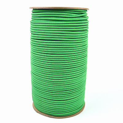 "1/8"" Green Bungee Cord Marine Grade Heavy Duty Shock Rope Tie Down Stretch Band"