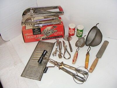 Lot of Vintage Kitchen Utensils Collectibles ECKO RELIABLE KENBERRY ANDROCK