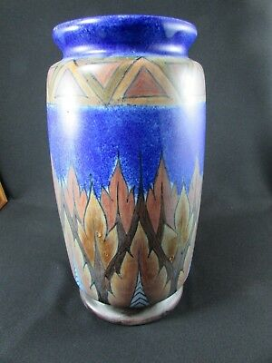 Large Hand Painted Chameleon Ware Vase by Clews & Co. Ltd c.1930-40