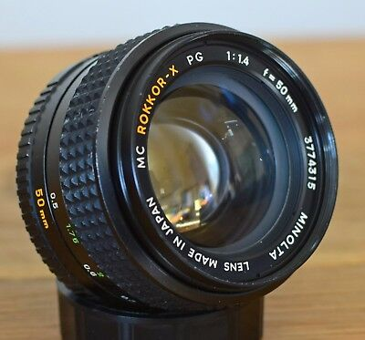 Minolta MC 50mm f1.4 Rokkor-X PG Lens - Excellent