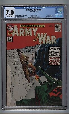 Our Army at War 120 (CGC 7.0) O/W pgs; Origin Wild Man; Kubert; Heath (c#16796)