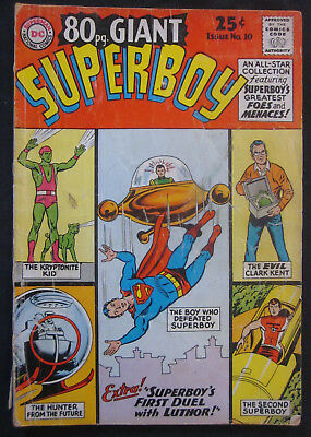 SUPERBOY 80 Page GIANT #10 1965 DC Comics GD 2.0 Silver Age KRYPTO Luthor