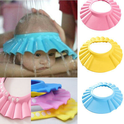1PC Safe Shampoo Baby Shower Cap Bathing Bath Protect Soft Cap Hat For Baby Kids