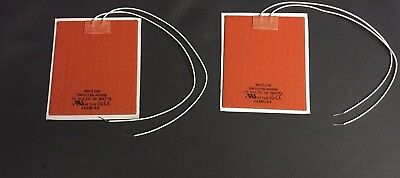 """Watlow SW01138-A00EB 12W 50 W Flexable Rubber Silicone Heater Pad 5""""X4"""" Lot of 2"""