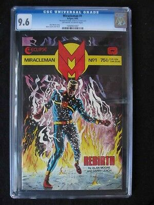 Miracleman #1 CGC 9.6 NM+ RARE GOLD VARIANT! Only 400 MADE Signed by Alan Moore!